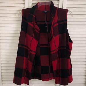 NEW Chaps Plus Size Plaid Vest